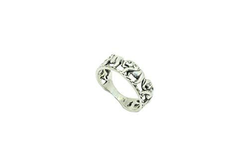 Rajasthan Gems - Anillo de plata de ley 925 unisex con 5...
