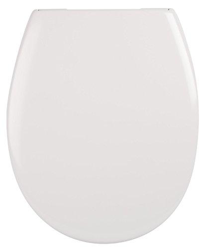 WC-Sitz Madrid weiß | Toilettensitz | WC-Brille aus Duroplast-Kunststoff | Mit Active-Clean-Beschichtung | Soft-Close-Absenkautomatik | Edelstahl-Scharnier | Fast-Fix-Schnellbefestigung | Take-Off