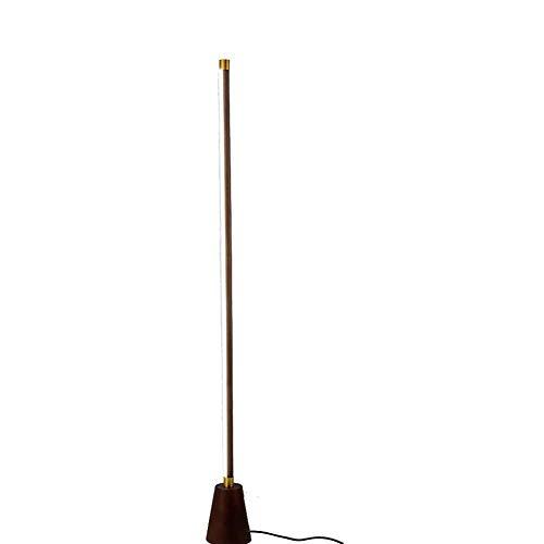 DECORATZ Gummi Holz Lampshade LED-Lichtstreifen Stehleuchte, Kreativ Schlafzimmer Nachtstehlampe, Wohnzimmer Study Office Home Dekoration Lese Fixture-B