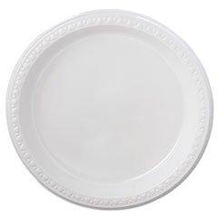 Chinet Teller 81209Schwergewicht Kunststoff Teller, 22,9cm Durchmesser, weiß, 125Stück (Fall von 4Packungen) (Schwergewichts-kunststoff-teller)