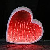 QiaoFei 3D Kreative Tunnel-Lampe, LED Infinity Spiegel-Licht/niedliches Herz Nachtlicht für Chistmas,Geburtstagsparty, Kinderzimmer, Wohnzimmer, Hochzeit, Party-Dekoration, QFTULLH007