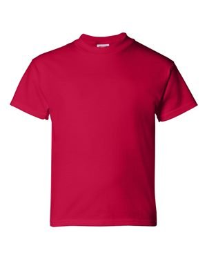 Hanes Boys' TAGLESS® ComfortSoft® Crewneck T-Shirt L Red (Rot Crewneck Jungen Shirt)