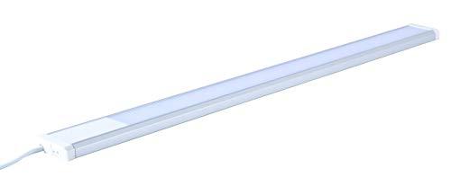 Trango TG2534 Lampe de cuisine à LED en titane avec interrupteur ON/Off 3000 K Blanc chaud 15 W 230 V 900 mm