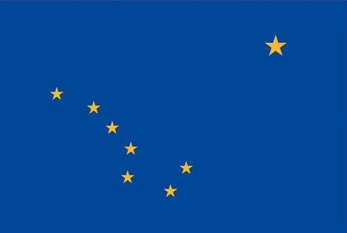Valley Forge Flagge, hergestellt in Amerika, Nylon, 91 x 152 cm 0 3' x 5' Alaska -