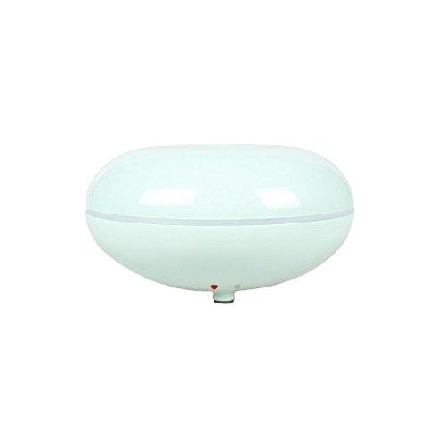 GX Diffuser Diffuseur Huile Essentielle Aroma Purificateur Air Ultrasonique Humidificateur Chauffage Electrique avec 7 Couleurs LED Light pour Petite Chambre
