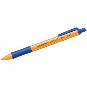 10 x Stabilo Kugelschreiber pointball Druckmechanik 0,5 mm blau