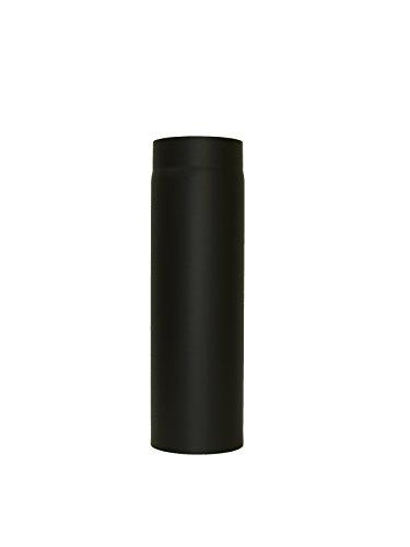 LANZZAS Homeflame Tuyau de poêle tuyau de cheminée Support 500 mm Ø 120 mm Noir