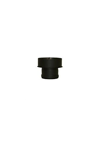Pelletrohr Ofenrohr Pellet Rauchrohr Kaminrohr Erweiterung Ø 100mm auf 130 mm Ø 100mm auf 150 mm grau schwarz (100mm auf 150 mm, schwarz)