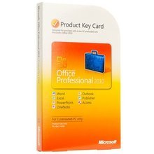 Microsoft Office Professional 2010 Product Key Card PKC 2 PC / 2 User OEM