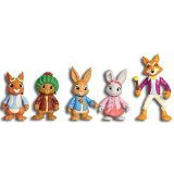 "Peter Rabbit -5 Figure Adventure Pack Multi-Figure Approx. 3"" Tall Figures Nick Jr."