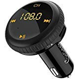 CHGeek Bluetooth FM Transmitter 5V/2.1A KFZ Auto Lokalisierer Wireless mp3 Player Audio Radio Adapter freisprecheinrichtung mit 2 USB Ladegerät