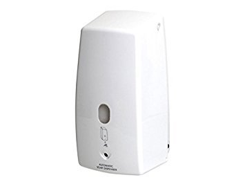 Bisk automático dispensador de jabón líquido con Cerradura con Llave, Color Blanco, 500ML