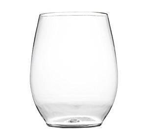 Set von 6Weingläser ohne Stiel Kunststoff Weinkelche/Weingläser, klar, 12oz (340ml)