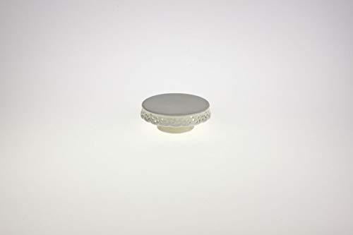 Werner Voss Tortenplatte/Tafelaufsatz mit Borte Creme weiß 15,5x5,5cm Dolomit (Tafelaufsatz Creme)