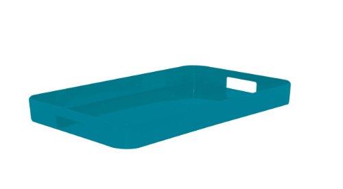 Zak Designs Gallery Tray Rectangular, Aqua Blue 33 x 26 cm