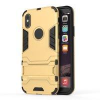 BCIT iPhone X (5.8 inch) Hülle - Hohe Qualität 3 Schicht Holster Combo Stoßfest [ Fallschutz ] Unterstützung Harter Abdeckungs Fall für iPhone X (5.8 inch) - Silber Gold