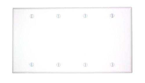 leviton-88064-4-gang-no-device-blank-wallplate-standard-size-thermoset-box-mount-white-by-leviton