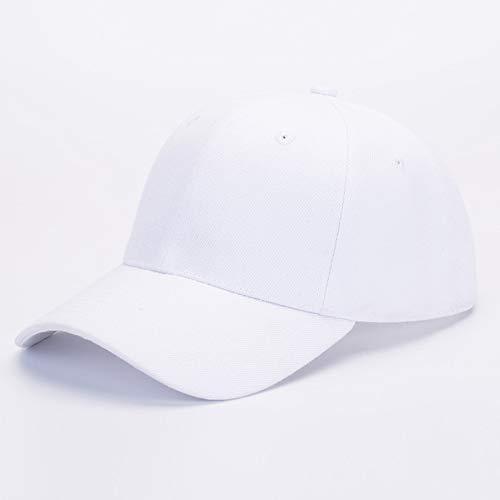 sdssup Sombrero de ala Plana Bordado Versión Coreana de la Gorra de béisbol Gorra Pescador Hip-Hop Hip-Hop Sombrero Blanco M (56-58cm)