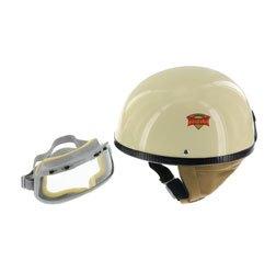 """SET Schutzhelm \""""\""""PERFEKT\""""\"""" - Modell P-500 - elfenbein - Größe XXL (63-64cm) - mit DDR-Schutzbrille \""""\""""START\""""\"""""""