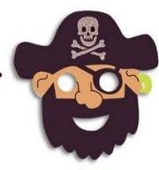 Henbrandt Eva Schaum Barted Eye Patch Pirat Maske (Schaum Piraten Masken)