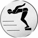 S.B.J - Sportland Pokal/Medaille Emblem, Motiv Schwimmen/Start, Durchmesser 50 mm, silber