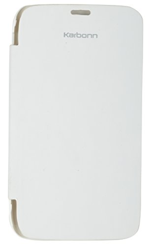 iCandy White Synthetic Leather Flip Cover For Karbonn Smart A111  available at amazon for Rs.99