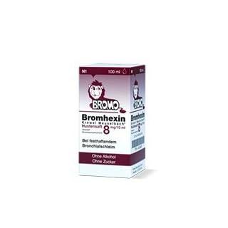BROMHEXIN 8 3x 100ml Tropfen- Schleimlösend für Bronchien und der Lunge mit zähem Schleim.