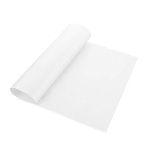 60 * 40cm Wiederverwendbare Non Stick Öl-Stoff Backpapier Hochtemperaturbeständige Ofen Mikrowelle Grill Backen-Matte Backen-Werkzeuge (Color : White 60 by 40cm)