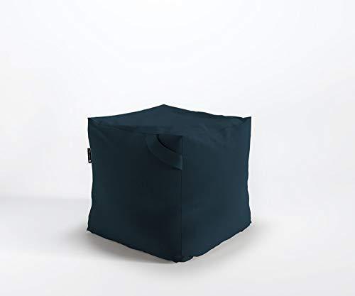 Designer Sitzpouf FIKKA Pouf Lounge Sitzsack Granulat Mikrofaser Tokyo, Farbe:TK4 - Blaugrün