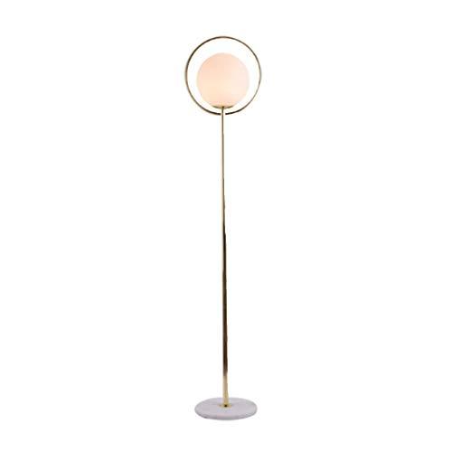 Lámpara de pie IKEA Nordic Sala de estar Creativa Simple moderna Personalidad Bola de cristal Dormitorio Estudio Lámpara de mesa vertical Met Love