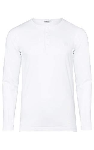 Banqert Herren Longsleeve Chamarel Falls - Männer Shirt-s Jungen Sweatshirt-s - 100Prozent pro-Ability Baumwolle Langarmshirt-s Shirt Langarm- Weiss White M