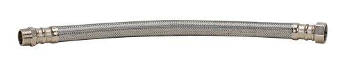 Fluidmaster b3h18Wasser-Heizung-Anschluss, Edelstahl geflochten-3/10,2cm Stecker Eisen Rohr, X 3/10,2cm Eisen Rohr, weiblich, 45,7cm Länge