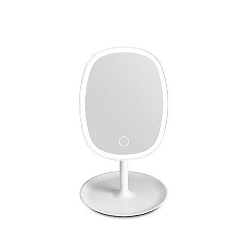 LED Specchio per Il Trucco con Lampada Specchio per Il Desktop Specchio di Ricarica Specchio Rete Studente agitazione Rossa riempire Luce Pieghevole