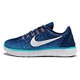 Nike Damen Free Run Distance Halbschuh, blau, 38.5 EU