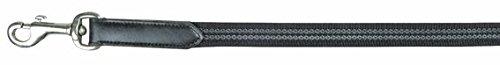 HKM Anti-Rutsch-Zügel für Island-Reittrensen, schwarz, 260 cm