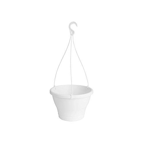 Elho Corsica Suspension 30 - Pot De Fleurs - Blanc - Extérieur & Balcon - Ø 29.4 x H 21.1 cm