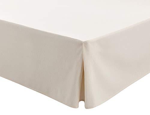 Easycosy - mantovana giroletto modello atenea vestiletto coprirette per letto 135 cm + volant di 32cm. colore grezzo (135x190/200cm)