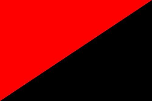 Diplomat magFlags Tisch-Fahne/Tisch-Flagge: Anarchist   A red and Black Flag Used as Anarchy Symbol   Un Drapeau Rouge et Noir utilisé Comme Symbole de l?Anarchie   UNA bandeja roja y Negra, sì (Metall-anarchie-symbol)