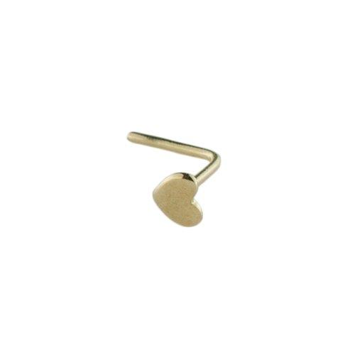 Mia Gioielli - Piercing Orecchino Naso Oro Giallo 750 Cuore, Piercing Anallergico, F-08640-0G00