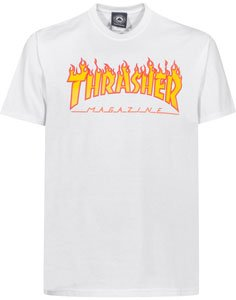 CAMISA THRASHER MAGAZINE FLAME WHITE - M