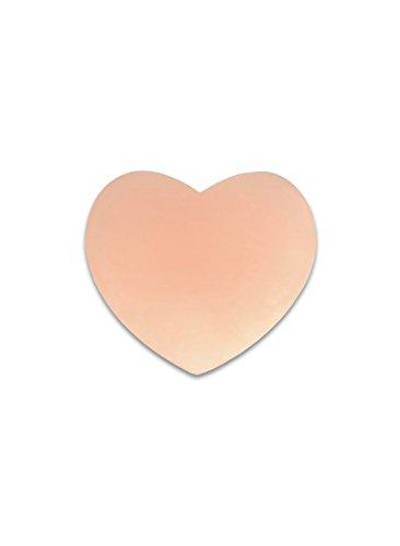 SODACODA couvercle silicone de mamelon - cercle, motif de coeur ou une fleur - auto-adhésif et réutilisable - qualité Premium! cœur