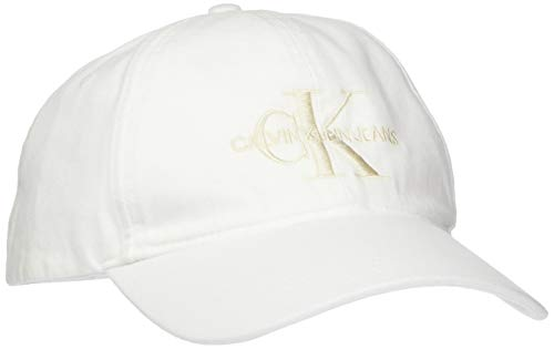 Calvin Klein Jeans Herren J Monogram Cap M Baseball Cap, per Pack Weiß (Bright White 107), One Size (Herstellergröße: OS)
