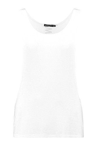Slogan Blanc Femmes Maisy travail Courir Vest Blanc