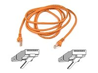 Belkin A3L791-25-ORG-S 25-Feet RJ45 CAT 5E Snagless Molded Patch Cable (Orange) - 25' Snagless Patch
