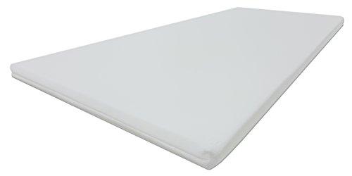 Dibapur® PRO Soft 3D Air Fresh Bezug Kaltschaum Topper Matratzenauflage (3D Air 130x190) x ca. 5 cm Kern mit Bezug ca. 5,2 cm - Made in Germany