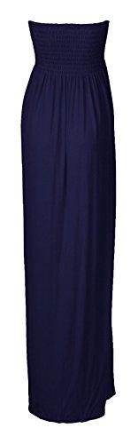 Fast Fashion - Maxi Robe Plus La Taille Sheering Plaine Boobtube - Femme Marine