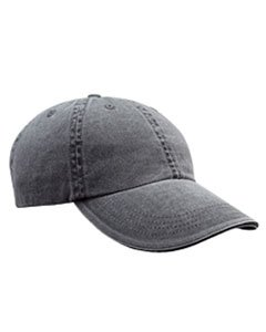 Solid Low-Profile Sandwich Trim Pigment-Dyed Twill Cap COAL OS -