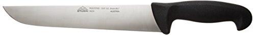Stubai 758702 Couteau de Boucher, Acier Inoxydable, argent/noir, 28 x 13 x 13 cm