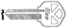 Kwikset Lock Key Blank by Kaba Ilco