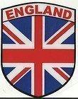 England Und Union Jack Flagge Shield Form internen Fenster Aufkleber Aufkleber